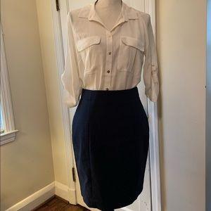 H&M Navy Pencil Skirt